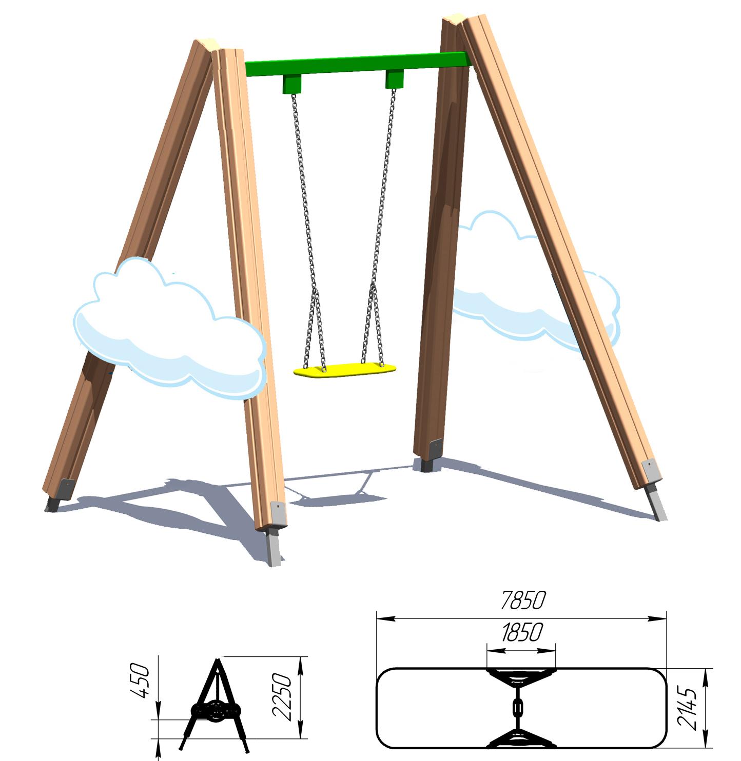 Как сделать детскую качели на даче своими руками фото чертежи