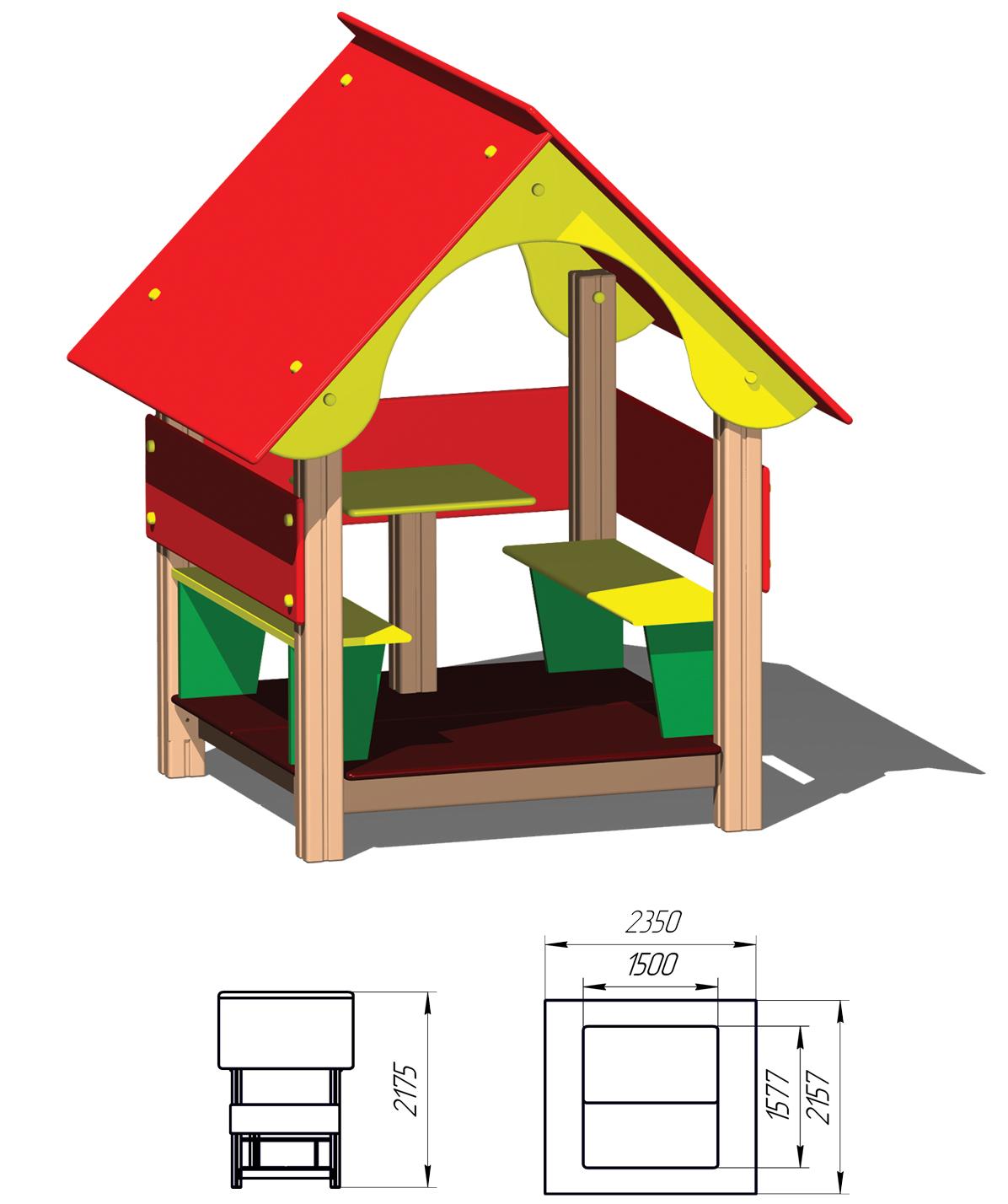 Домик детский для дачи своими руками фото чертежи 2x3 метра