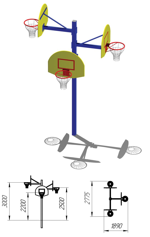 Как сделать баскетбольную стойку и какие размеры